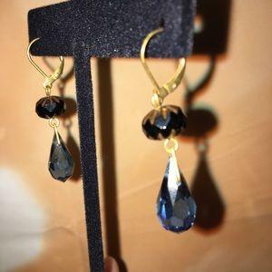 Anthropologie beaded dangling earrings